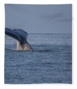 Blue Whale Tail Fleece Blanket