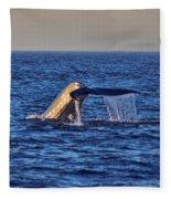 Blue Whales Tail Fleece Blanket