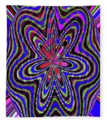 Blue White And Red Abstract #2944e2c Fleece Blanket