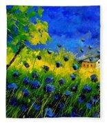 Blue Wild Flowers Fleece Blanket