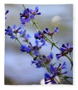 Blue Wildflowers Over Rimrock Lake Fleece Blanket