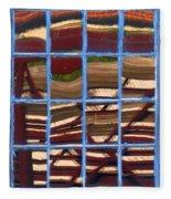Blue Window 2 Fleece Blanket