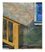 Blue Window Sill Fleece Blanket