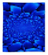 Blue Windows Abstract Fleece Blanket