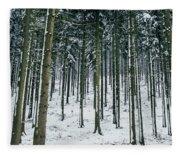 Blue Winter Forest Fleece Blanket
