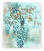 Blue Wisteria Fleece Blanket