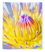 Blue Yellow Lily  Fleece Blanket