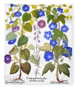 Bluebell And Morning Glory Fleece Blanket