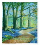 Bluebell Walk Fleece Blanket