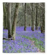 Bluebell Wood Effingham Surrey Uk Fleece Blanket