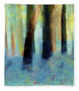 Bluebell Wood By V.kelly Fleece Blanket