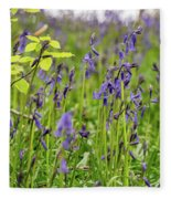Bluebells In Judy Woods Fleece Blanket