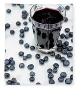 Blueberries And Blueberry Juice Fleece Blanket