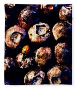 Blueberries And Ladybug Fleece Blanket