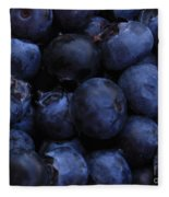 Blueberries Close-up - Horizontal Fleece Blanket