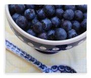 Blueberries In Polish Pottery Bowl Fleece Blanket