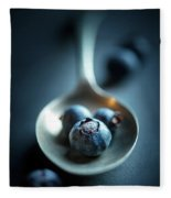 Blueberries Macro Still Life Fleece Blanket
