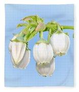 Blueberry Blossoms Fleece Blanket
