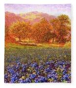 Blueberry Fields Season Of Blueberries Fleece Blanket