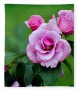 Blueberry Hill Roses Fleece Blanket