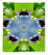 Blueberry Kaleidoscope Fleece Blanket