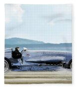 Bluebird II, 1928, World Record Land Speed Record At Pendine Sands, Wales, 178.88 Mph Fleece Blanket
