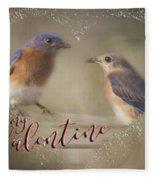 Bluebird Love Fleece Blanket