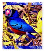 Bluebird Of Happiness Fleece Blanket