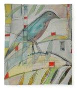 Bluebird Of Fleece Blanket