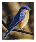 Bluebird Portrait Fleece Blanket