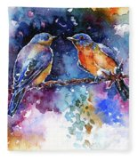 Bluebirds Fleece Blanket