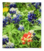 Bluebonnet Bouquet Fleece Blanket