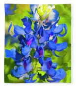 Bluebonnet Fantasy Fleece Blanket