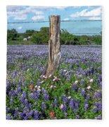 Bluebonnet Field Fleece Blanket