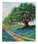 Bluebonnet Road Fleece Blanket