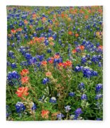 Bluebonnets And Paintbrushes 3 - Texas Fleece Blanket
