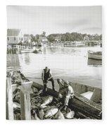 Bluefin Tuna At Barnstable Harbor Fleece Blanket