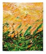 Bluegrass Sunrise - Lemon B-right Fleece Blanket