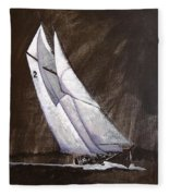 Bluenose At Night Coming Fleece Blanket