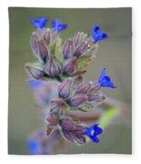 Blues A Bloomin' Fleece Blanket