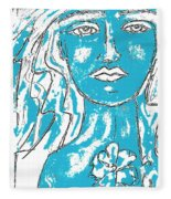 Blues Girl Fleece Blanket