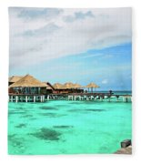 Blues In Maldivian Performance  Fleece Blanket