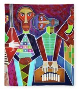 Blues Music Fleece Blanket