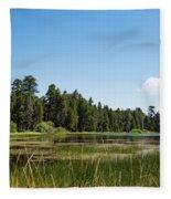 Bluff Lake Ca 3 Fleece Blanket