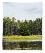Bluff Lake Ca Island 3 Fleece Blanket