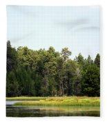 Bluff Lake Ca Island 5 Fleece Blanket