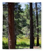 Bluff Lake Ca Through The Trees 7 Fleece Blanket