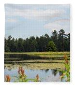 Bluff Lake Ca Wild Flowers 11 Fleece Blanket
