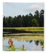Bluff Lake Ca Wild Flowers 12 Fleece Blanket