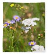 Bluff Lake Ca Wild Flowers 6 Fleece Blanket